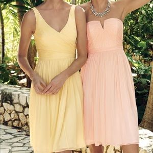 J Crew Yellow Chiffon Bridesmaid Dress